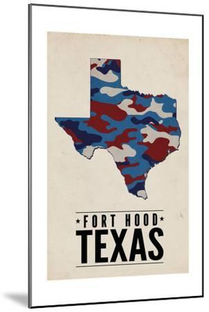Fort Hood,Texas - the Lone Star State - Camo State-Lantern Press-Mounted Art Print