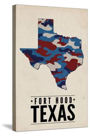 Fort Hood,Texas - the Lone Star State - Camo State-Lantern Press-Stretched Canvas Print