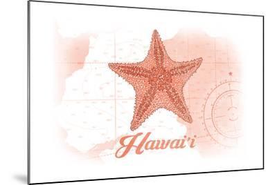 Hawaii - Starfish - Coral - Coastal Icon-Lantern Press-Mounted Art Print
