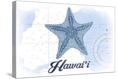 Hawaii - Starfish - Blue - Coastal Icon-Lantern Press-Stretched Canvas Print