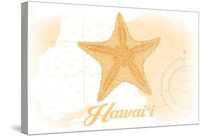 Hawaii - Starfish - Yellow - Coastal Icon-Lantern Press-Stretched Canvas Print