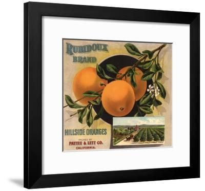 Rubidoux Brand - California - Citrus Crate Label-Lantern Press-Framed Art Print