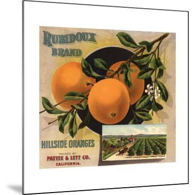Rubidoux Brand - California - Citrus Crate Label-Lantern Press-Mounted Art Print