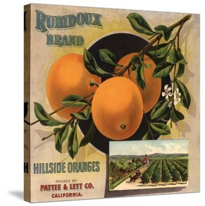 Rubidoux Brand - California - Citrus Crate Label-Lantern Press-Stretched Canvas Print