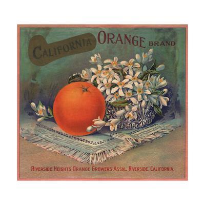 California Orange Brand - Riverside, California - Citrus Crate Label-Lantern Press-Framed Art Print