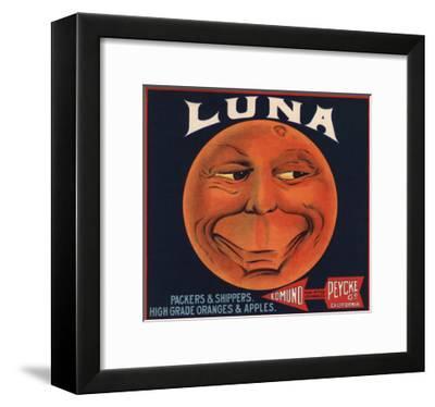 Luna Brand - Los Angeles, California - Citrus Crate Label-Lantern Press-Framed Art Print