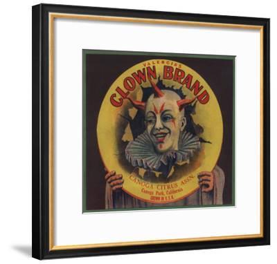 Clown Brand - Canoga Park, California - Citrus Crate Label-Lantern Press-Framed Art Print