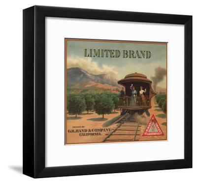 Limited Brand - California - Citrus Crate Label-Lantern Press-Framed Art Print