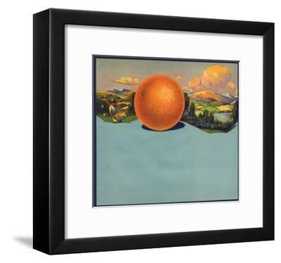 Orange and Orchards - Citrus Crate Label-Lantern Press-Framed Art Print