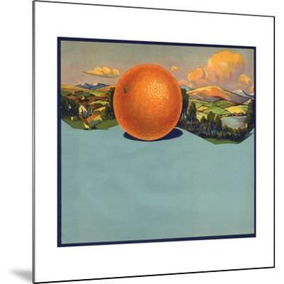 Orange and Orchards - Citrus Crate Label-Lantern Press-Mounted Art Print