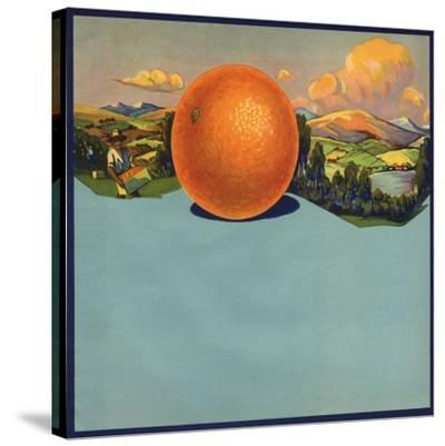 Orange and Orchards - Citrus Crate Label-Lantern Press-Stretched Canvas Print