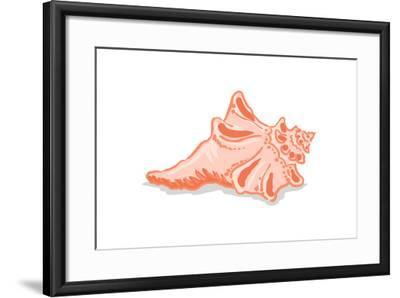 Conch Shell - Icon-Lantern Press-Framed Art Print