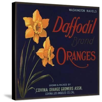 Daffodil Brand - Covina, California - Citrus Crate Label-Lantern Press-Stretched Canvas Print