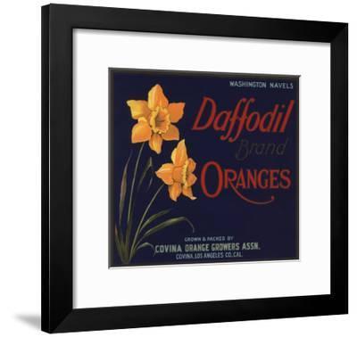 Daffodil Brand - Covina, California - Citrus Crate Label-Lantern Press-Framed Art Print