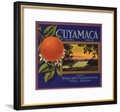 Cuyamaca Brand - El Cajon, California - Citrus Crate Label-Lantern Press-Framed Art Print
