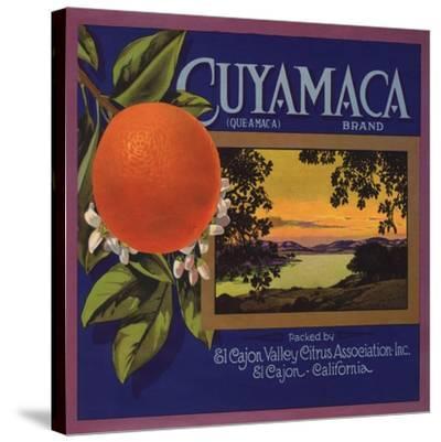 Cuyamaca Brand - El Cajon, California - Citrus Crate Label-Lantern Press-Stretched Canvas Print