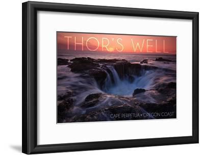 Cape Perpetua, Oregon Coast - Thors Well-Lantern Press-Framed Art Print