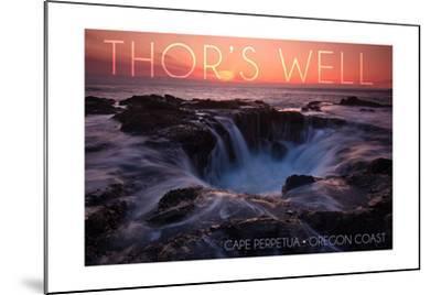 Cape Perpetua, Oregon Coast - Thors Well-Lantern Press-Mounted Art Print