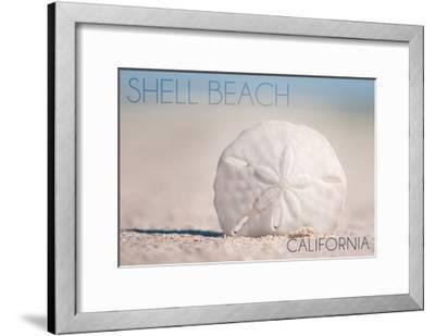 Shell Beach, California - Sand Dollar and Beach-Lantern Press-Framed Art Print