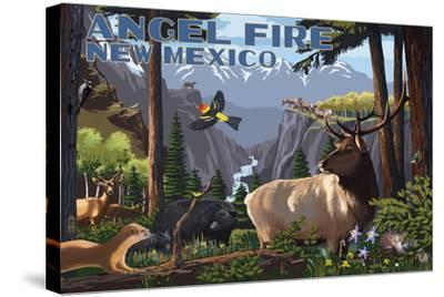 Angel Fire, New Mexico - Wildlife Utopia-Lantern Press-Stretched Canvas Print