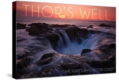 Cape Perpetua, Oregon Coast - Thors Well-Lantern Press-Stretched Canvas Print