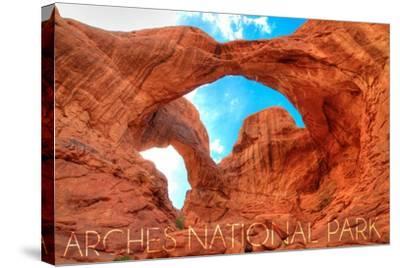 Arches National Park, Utah - Daytime Blue Sky-Lantern Press-Stretched Canvas Print