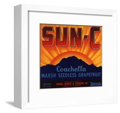 Sun C Brand - Indio, California - Citrus Crate Label-Lantern Press-Framed Art Print