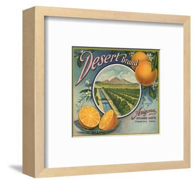 Desert Brand - Phoenix, Arizona - Citrus Crate Label-Lantern Press-Framed Art Print