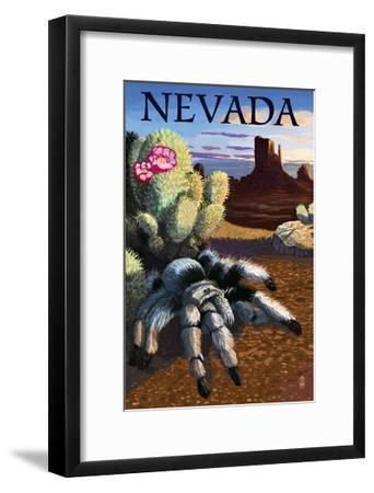 Nevada - Blond Tarantula-Lantern Press-Framed Art Print