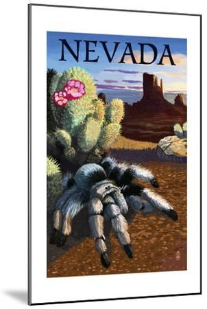 Nevada - Blond Tarantula-Lantern Press-Mounted Art Print