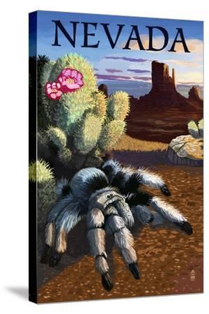 Nevada - Blond Tarantula-Lantern Press-Stretched Canvas Print