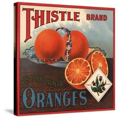 Thistle Brand - California - Citrus Crate Label-Lantern Press-Stretched Canvas Print