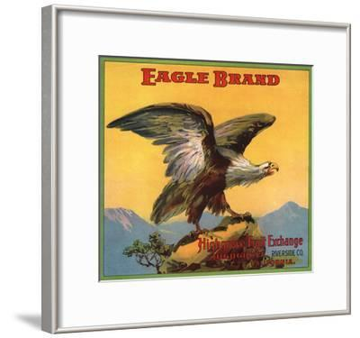 Eagle Brand - Highgrove, California - Citrus Crate Label-Lantern Press-Framed Art Print