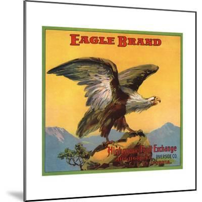 Eagle Brand - Highgrove, California - Citrus Crate Label-Lantern Press-Mounted Art Print