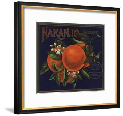 Naranjo Brand - Naranjo, California - Citrus Crate Label-Lantern Press-Framed Art Print