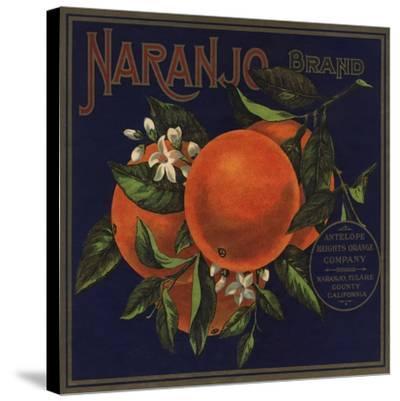 Naranjo Brand - Naranjo, California - Citrus Crate Label-Lantern Press-Stretched Canvas Print