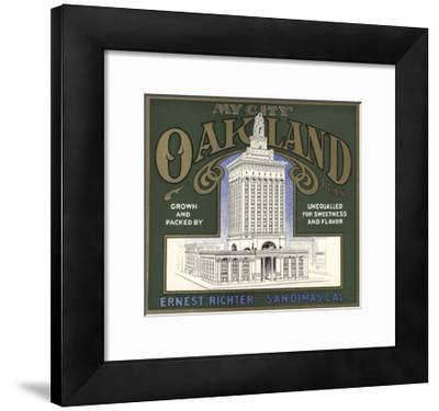 My City Oakland Brand - San Dimas, California - Citrus Crate Label-Lantern Press-Framed Art Print
