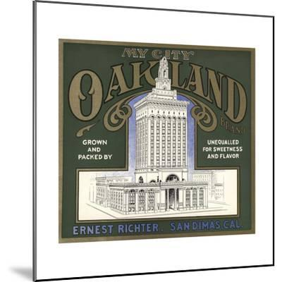 My City Oakland Brand - San Dimas, California - Citrus Crate Label-Lantern Press-Mounted Art Print