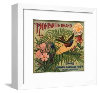 Nonpareil Brand - Covina, California - Citrus Crate Label-Lantern Press-Framed Art Print