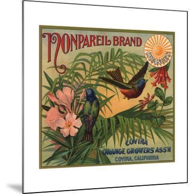 Nonpareil Brand - Covina, California - Citrus Crate Label-Lantern Press-Mounted Art Print