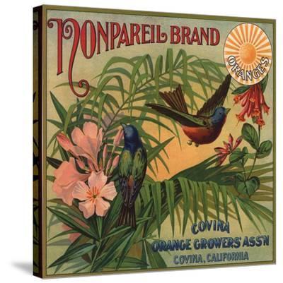 Nonpareil Brand - Covina, California - Citrus Crate Label-Lantern Press-Stretched Canvas Print