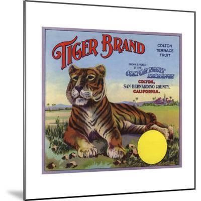 Tiger Brand - Colton, California - Citrus Crate Label-Lantern Press-Mounted Art Print