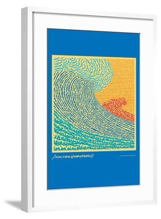The Big Wave - John Van Hamersveld Poster Artwork-Lantern Press-Framed Art Print