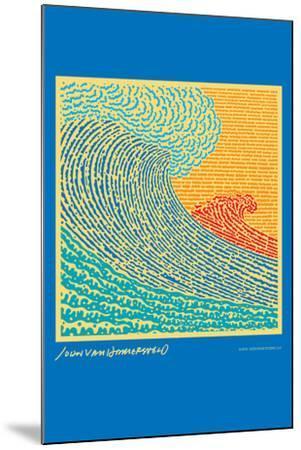 The Big Wave - John Van Hamersveld Poster Artwork-Lantern Press-Mounted Art Print