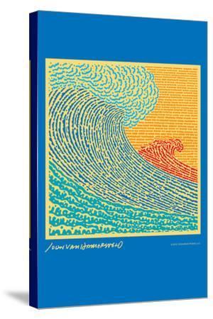 The Big Wave - John Van Hamersveld Poster Artwork-Lantern Press-Stretched Canvas Print
