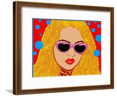 I Love Sunset - John Van Hamersveld Poster Artwork-Lantern Press-Framed Art Print