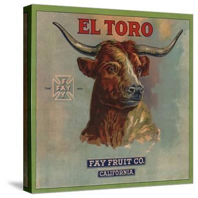 El Toro Brand - California - Citrus Crate Label-Lantern Press-Stretched Canvas Print