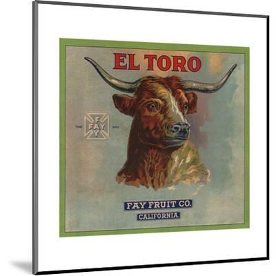 El Toro Brand - California - Citrus Crate Label-Lantern Press-Mounted Art Print