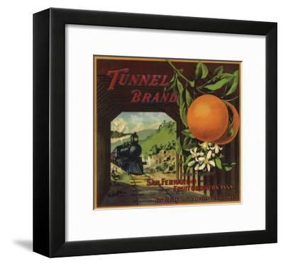 Tunnel Brand - San Fernando, California - Citrus Crate Label-Lantern Press-Framed Art Print