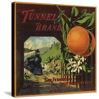 Tunnel Brand - San Fernando, California - Citrus Crate Label-Lantern Press-Stretched Canvas Print